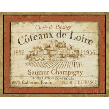 French Wine Label II Canvas Art - Daphne Brissonnet (22 x 28)