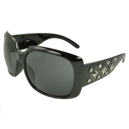 MLC Eyewear 'Taryn' Chic Stud Shield Fashion Sunglasses