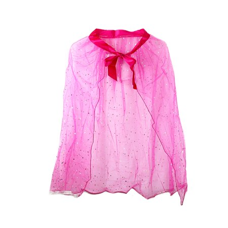 Pretend Play Dress Up Mozlly Fuchsia Princess Twinkle Star Costume Cape for $<!---->