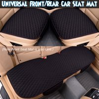 1/2/3 PCS Black Front/Rear Car Seat Cover Universal Breathable Vehicle Comfortable Seat Pad Mat Cushion