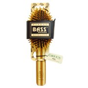 Bass Brushes Extra Large Oval, Hair Brush, Cushion, Wood Bristles with Stripped Bamboo Handle, 1 Hair Brush