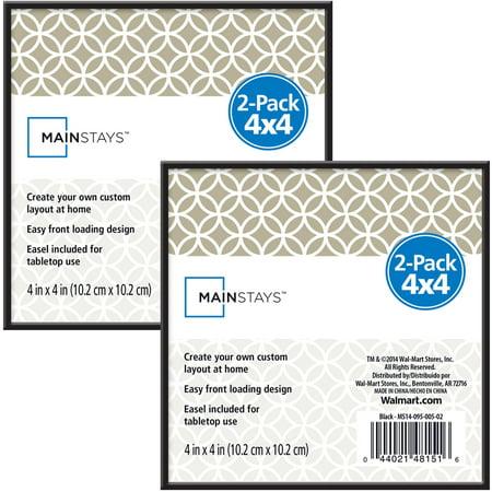 Mainstays 4x4 Format Frame Set Of 2 Walmart Com