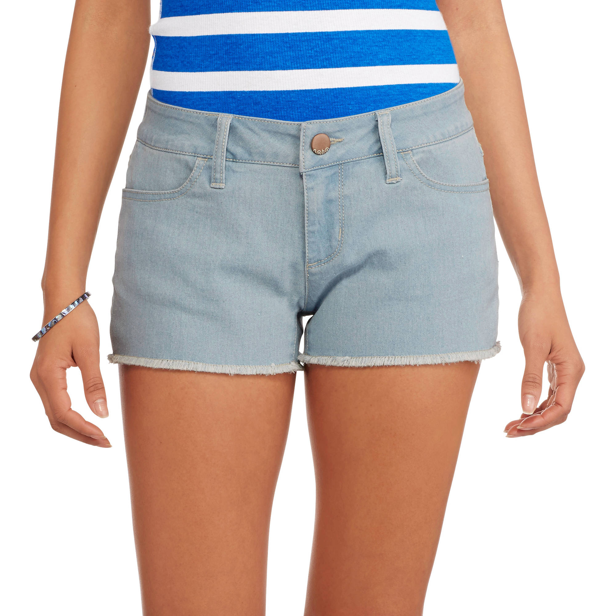 No Boundaries Juniors Classic Denim Shorts