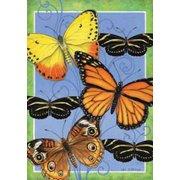 "Butterflies Flight Spring House Flag Decorative Butterfly Yard Banner 28"" x 40"""
