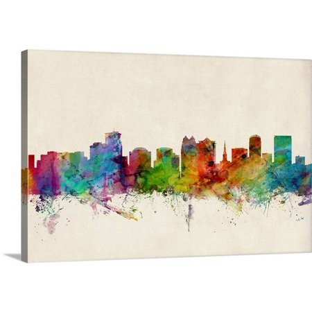 Great BIG Canvas Michael Tompsett Premium Thick-Wrap Canvas entitled Orlando Florida Skyline
