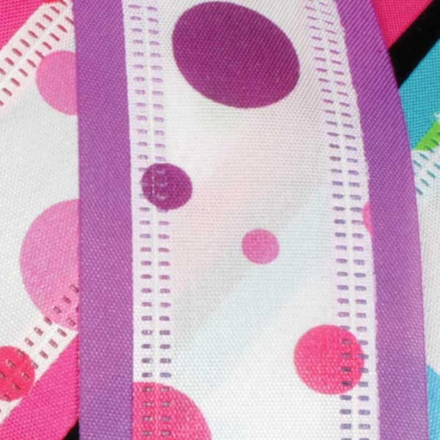 "Zip-a-dee Doo-Dots Purple and Pink Wired Craft Ribbon 1.5"" x 40 Yards"