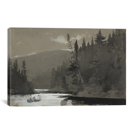 iCanvas 'Three Men in a Canoe 1895' by Winslow Homer Painting Print on Canvas