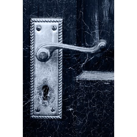 Halloween Memes Dirty (LAMINATED POSTER Door Scary Dirty Detail Handle Halloween Spooky Poster Print 24 x)