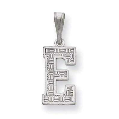 Sterling Silver Initial E Charm QC2762E (25mm x 9 to 10mm) - image 2 of 2