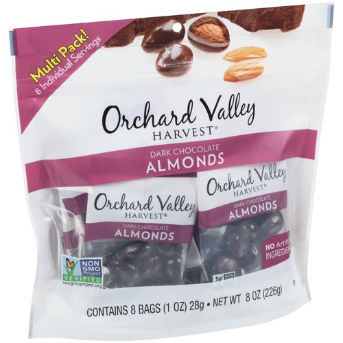 Orchard Valley Harvest Dark Chocolate Almonds, 1 oz, 8 count