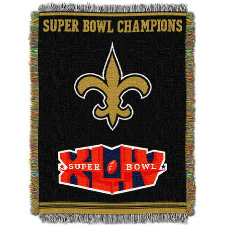 "NFL 48"" x 60"" Commemorative Series Tapestry Throw, Saints"