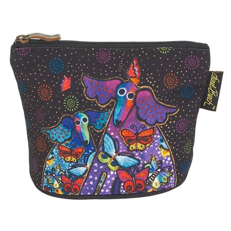 Laurel Burch Dog Cotton Canvas Cosmetic Bag Mythical