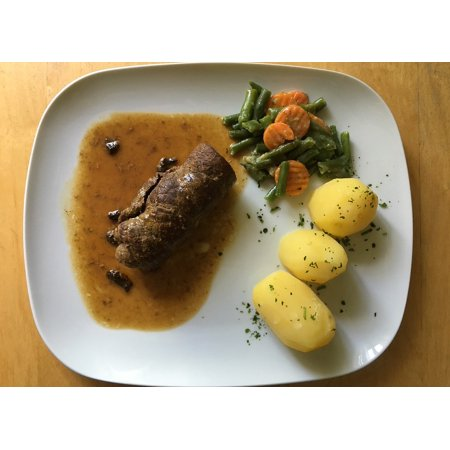 Cook Beef - Canvas Print Beef Eat Roulades Vegetables Cook Irish Potatoes Stretched Canvas 10 x 14