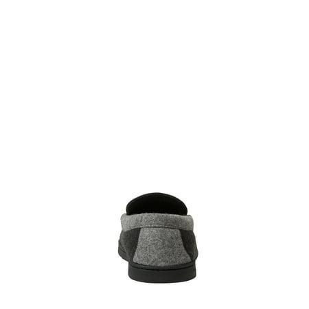 DF by Dearfoams Men's Wool Inspired Moccasin Slippers