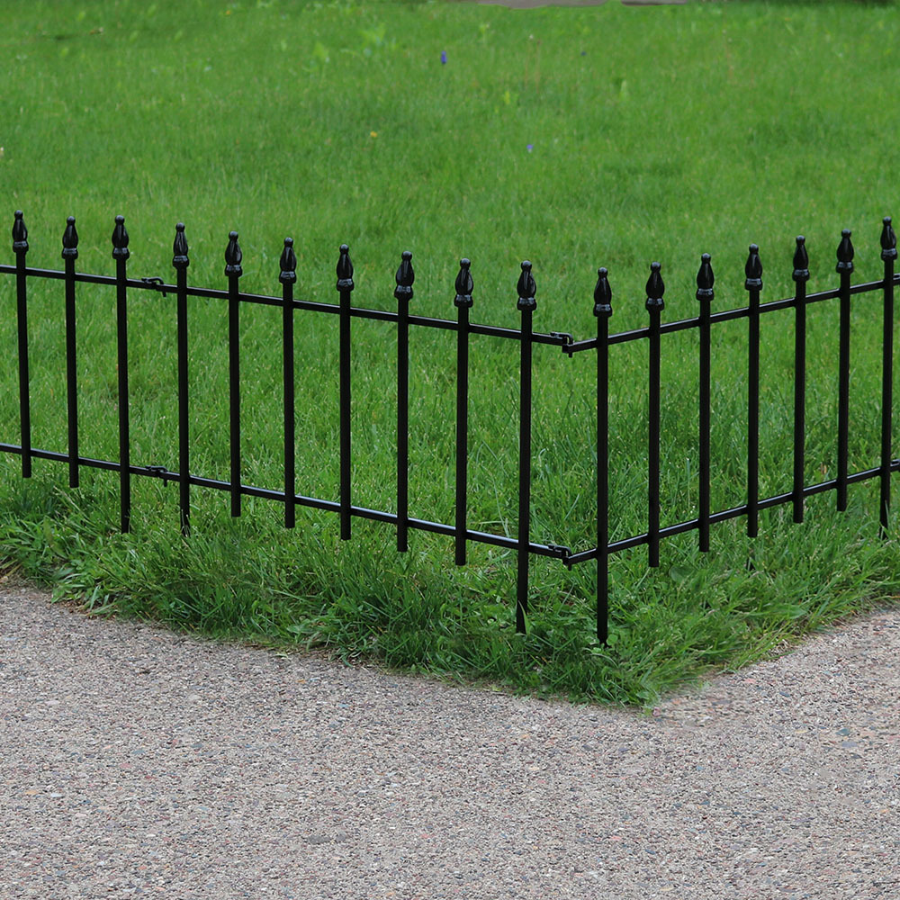 Sunnydaze 5 Piece Roman Border Fence Set, 18 Inches x 22 Inches Wide Each Piece, 9 Overall Feet