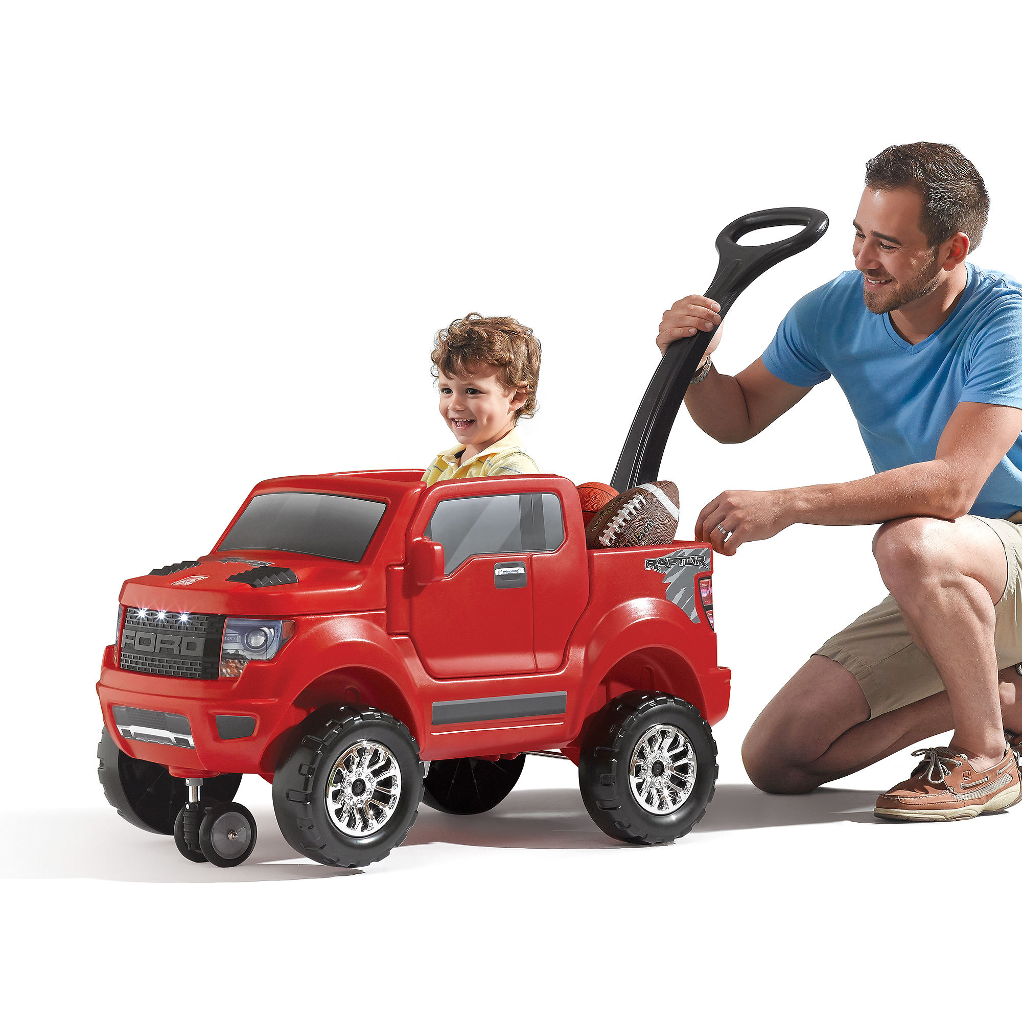 Step2 Ford F-150 Raptor 2-in1 Ride-On, Red