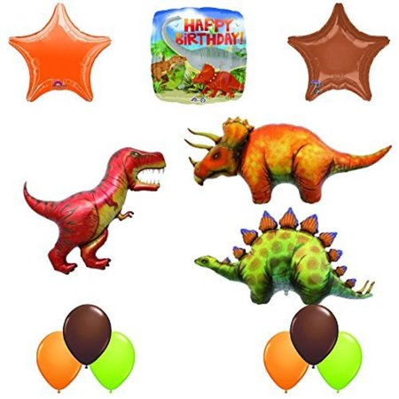 The Ultimate Prehistoric Birthday Balloon Decoration Kit With 3 Giant Dinosaur Balloon - Prehistoric Party Supplies
