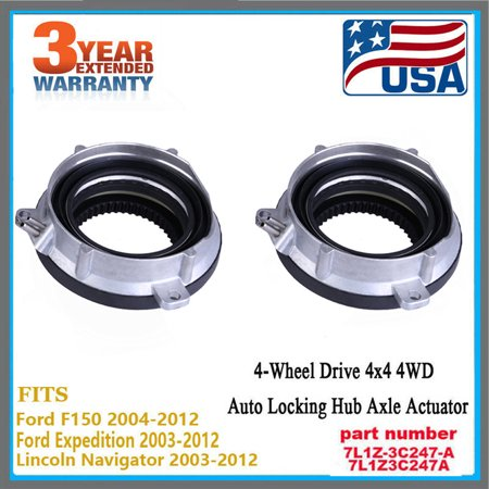 Auto-Locking Hub 4 Wheel Drive Actuator Pair For Ford F150 Expedition 4WD