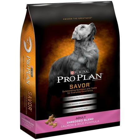 Purina Pro Plan SAVOR Adult Shredded Blend Salmon & Rice Formula Dry Dog Food, 17 Lb.