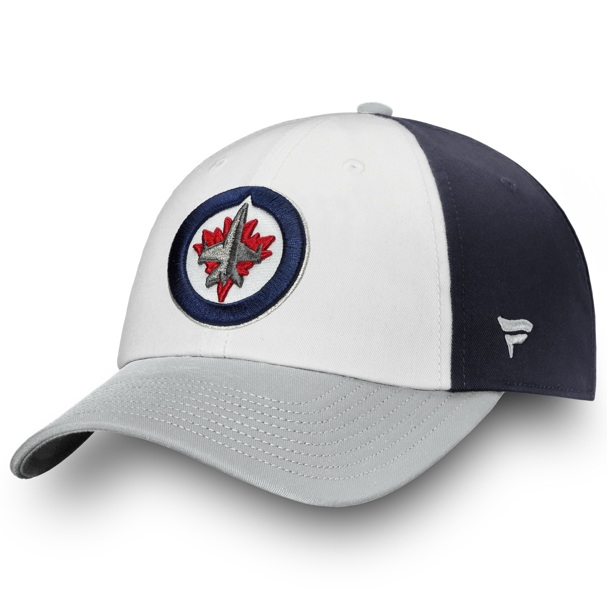 Winnipeg Jets Fanatics Branded Iconic Fundamental Adjustable Hat - White/Gray - OSFA