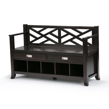 Fabulous Brooklyn Max Dover Solid Wood 47 Inch Wide Contemporary Entryway Storage Bench With Drawers And Cubbies In Espresso Brown Gmtry Best Dining Table And Chair Ideas Images Gmtryco