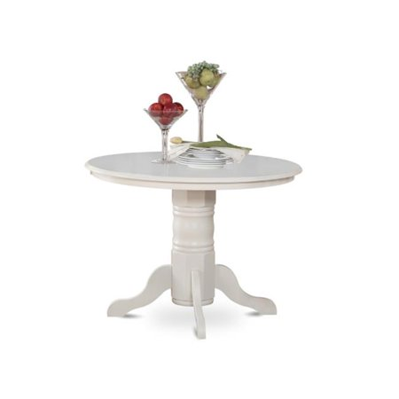 East West Furniture SHT-WHI-TP Shelton Round Kitchen Table 42 in. Diameter With Pedestal