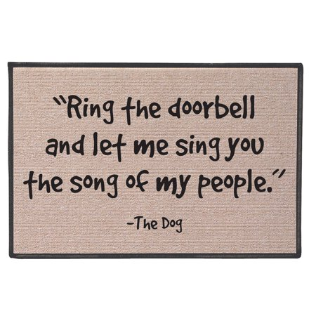 Funny Doormat - Ring The Doorbell and Let Me Sing The Song of My People -The - Sonicbonded Mat