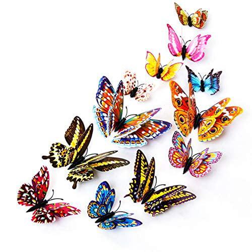 Kakuu 24pcs 3d Luminous Butterfly Wall Stickers Decor Art Decorations Butterfly Wall Decals Removable Diy Home Decorations Art Decor Wall Stickers For Wall Decor Home Art Kids Room Bedroom Decor Walmart Com