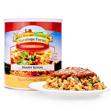 Saratoga Farms Hearty Beef Rotini, #10 Can, 2 lbs 15 oz (1330 g), Emergency Food Storage, Long-Term Food Storage, Every Day - Saratoga Farm