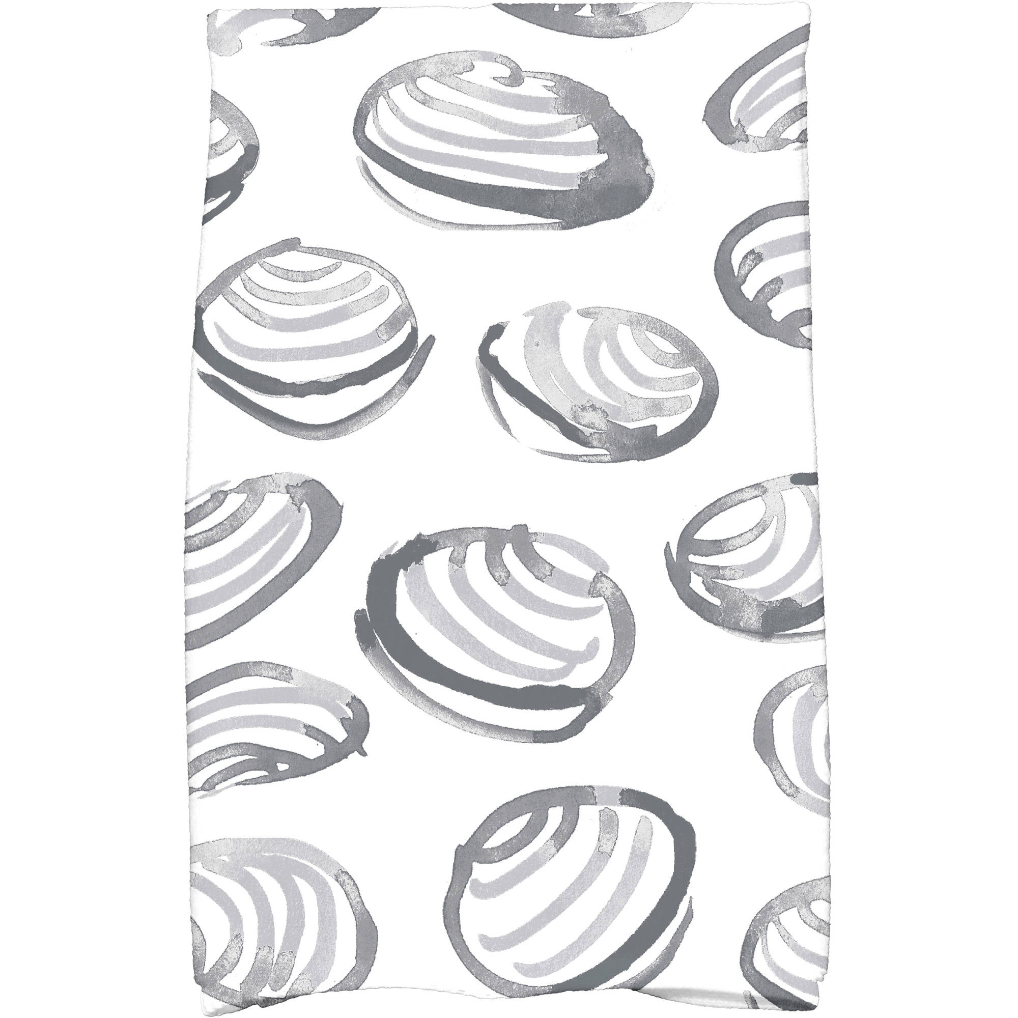 "Simply Daisy 16"" x 25"" Clams Geometric Print Kitchen Towel by E By Design"