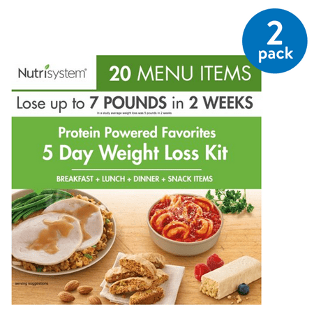 (2 Pack) Nutrisystem 5 Day Protein Powered Weight Loss Kit, 5.3 lbs, 15 Meals, 5