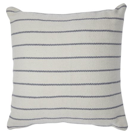 MoDRN Stripe Outdoor Throw Pillow - 22L x 22W - Gray/Ivory ()