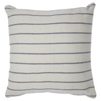 MoDRN Stripe Outdoor Throw Pillow - 22L x 22W - Gray/Ivory