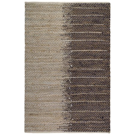 Recycled Jute (Fab Habitat, Jute & Recycled Cotton Area Rug/Floor Mat, Eco-friendly Natural Fibers, Handwoven - Addison/Natural, 2' x)