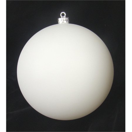 Matte Winter White Shatterproof Christmas Ball Ornament 4
