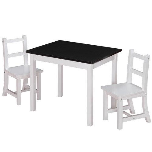 Dorel Kiddy 3 Piece Rectangle Table and Chair Set (Chalkboard Top)
