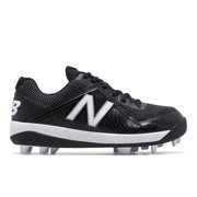 new balance j4040v4 boys molded baseball cleat, pedroia black/white camo 1