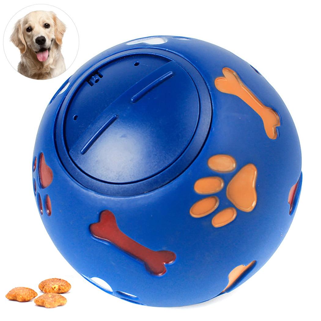Pet Dog Toy,Legendog Educational Interactive Paw Bone Print Rubber Ball Puppy Chew Toy Dog Playing Toy Dog Treats Dispenser