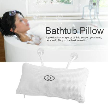 D1 Spas - Ymiko Non-slip Bathtub Spa Pillow Bath Cushion with Suction Cups Head Neck Support, Bathtub Pillow, Bathtub Cushion