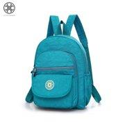 Luxtrada Mini Backpack Waterproof Nylon Rucksack Travel School College Bookbag Shoulder Purse for Women & Girls (Blue)