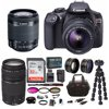Canon EOS Rebel T6 DSLR Camera with 18-55mm and 75-300mm Lens Accessory Bundle 18.0 Megapixel CMOS (APS-C) image sensorDIGIC 4+ Image ProcessorISO 100–6400 (expandable to H: 12800)Built-in Wi-Fiand NFC connectivityCompatible with Canon Connect Station CS100 device9‐point AF systemHigh-performance Optical ViewfinderLarge, 3.0-inch LCD monitor with 920,000 dotsScene Intelligent Auto mode,Feature GuideEOS Full HD Video;Continuous shooting up to 3.0 fps