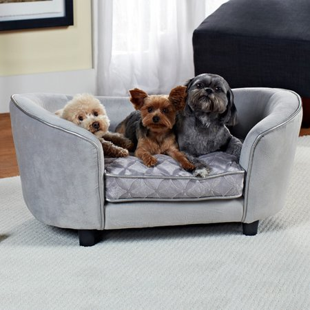 Enchanted Home Pet Ultra Plush Quicksilver Dog Sofa