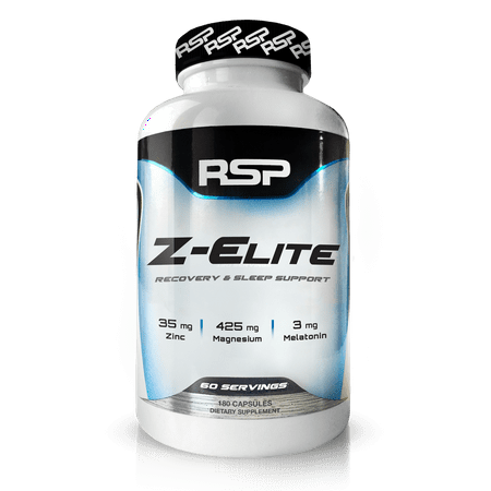 RSP Nutrition Z-Elite Sleep Support, Muscle Recovery, Sleep Aid, Melatonin, Zinc & Magnesium, 180