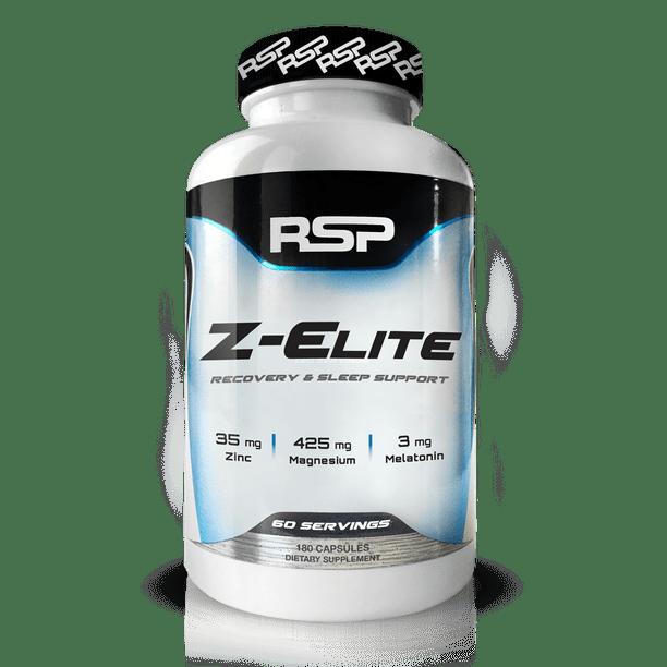 RSP Nutrition Z-Elite Sleep Support, Muscle Recovery, Sleep Aid, Melatonin, Zinc & Magnesium, 180 Ct