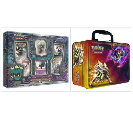 Marshadow Figure Collection Box and Sun & Moon Spring 2017 Collectors Chest Tin Pokemon Trading Card Game Bundle, 1 of