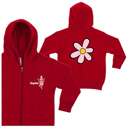 Personalized Yo Gabba Gabba! Foofa Red Zip-Up Toddler Girls' Hoodie - Foofa Yo Gabba Gabba