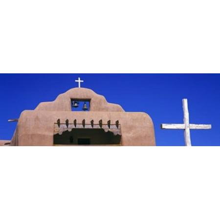Low angle view of Santo Tomas Church Santa Rosa De Lima New Mexico USA Poster Print