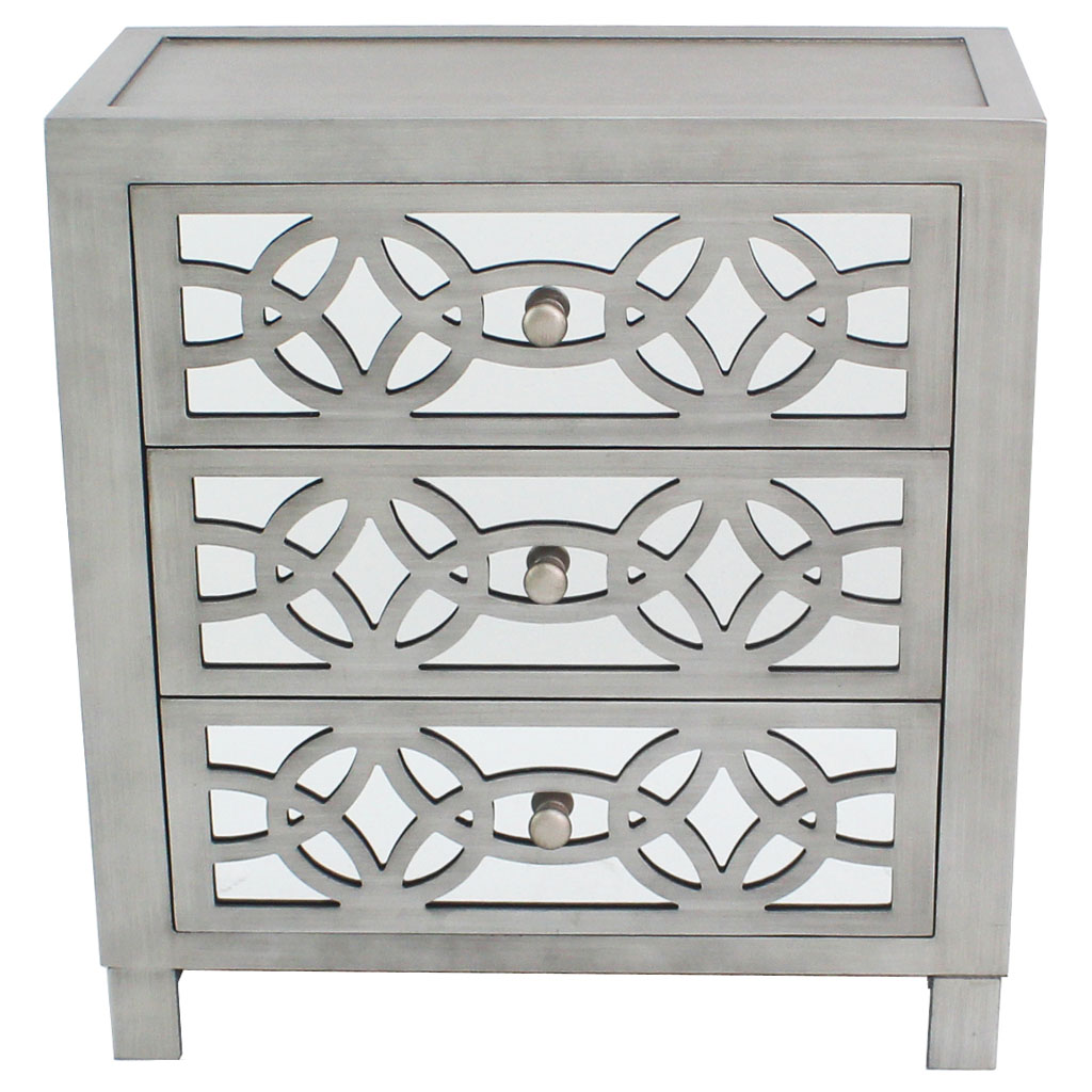 "River of Goods Monroe Mirrored 28""H Chest"