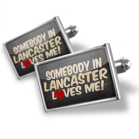 Lancaster Cufflinks - Cufflinks Somebody in Lancaster Loves me, Ohio - NEONBLOND