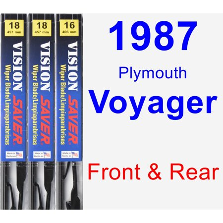 1987 Plymouth Voyager Wiper Blade Set/Kit (Front & Rear) (3 Blades) - Vision Saver